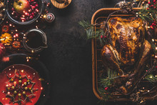 Christmas Dinner Table With Wh...