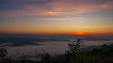 Sunrise At Doi Samer Dao Sri Nan National Park Thailand Timelapa 4k