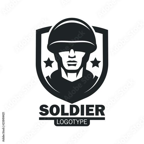 Stampa su Tela Military soldier logo mascot template
