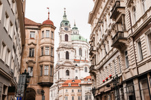 The Church Of Saint Nicholas Is A Baroque Church In The Lesser Town Of Prague. Travel Photography