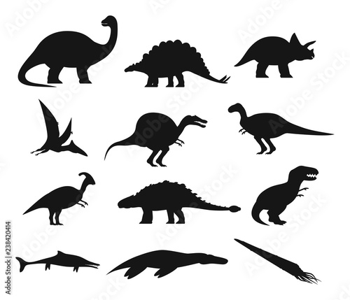 Photo Contour or outline of ancient dinosaurus or dino
