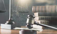 Justice Scales And Books And W...