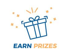 Earn Prizes Vector Illustratio...