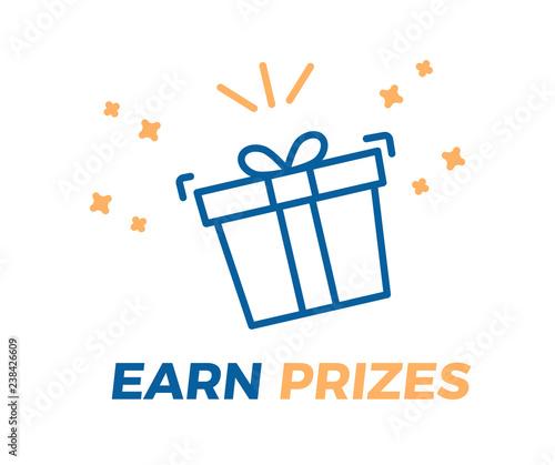 Foto Earn Prizes vector illustration background