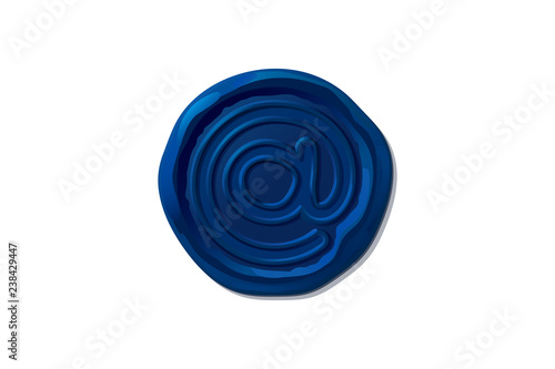 Fotografering  vector wax seal stamp shape