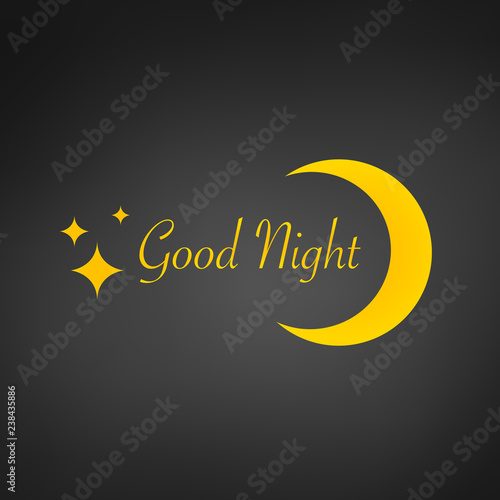 Cuadros en Lienzo Sleep design background, zzz moon, good night sign and stars, vector illustratio