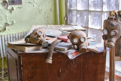 Fotografie, Obraz  gas masks