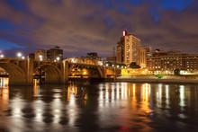 Cityscape Of St. Paul, Minnesota At Night