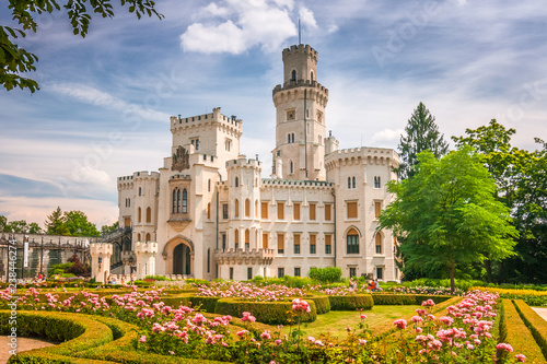 Naklejki do przedszkola  chateau-hluboka-with-a-beautiful-park-in-the-foreground-czech-republic-europe