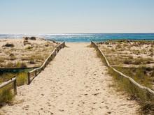 Beach Walkway In Coolangata, Australia