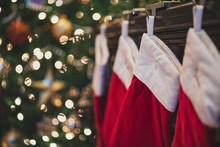 Christmas Stockings Hanging On...