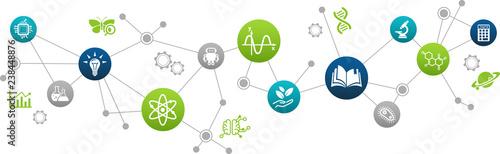 Obraz STEM science concept / various scientific research fields / science education -  vector illustration - fototapety do salonu