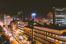 City In Nairobi At Night
