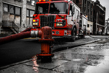Fire Truck On The Road