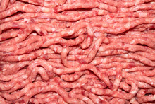 Background Of Raw Minced Meat.Texture Of Minced Meat.