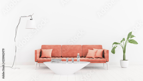 Living Coral Color Of The Year 2019 Neutral Bright Interior Room