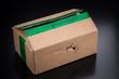 Kaputtes Paket - Zerstörte braune Versandverpackung beim Onlineshopping