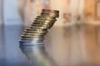 Geld Münzen zu Turm gestapelt