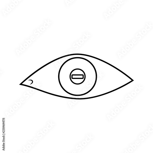 eye with short-sightedness problems icon  Element of cyber security