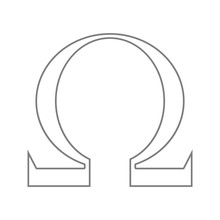 Omega Sign Icon. Element Of Cyber Security For Mobile Concept And Web Apps Icon. Thin Line Icon For Website Design And Development, App Development