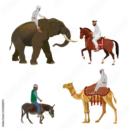 Different riders vector Fototapet