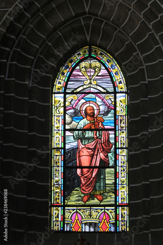 Vitral, Basílica Menor de la Inmaculada Concepción. Jardín, Antioquia, Colombia © LUIS F. SALDARRIAGA