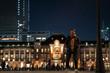 東京駅と男性