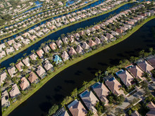 Aerial View Of Houses In Row B...