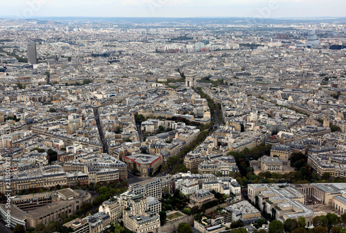 Photo  metropolis of Paris in France from the top of the Eiffel Tower