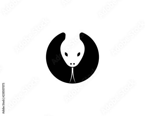 Fototapeta premium szablon logo głowy węża