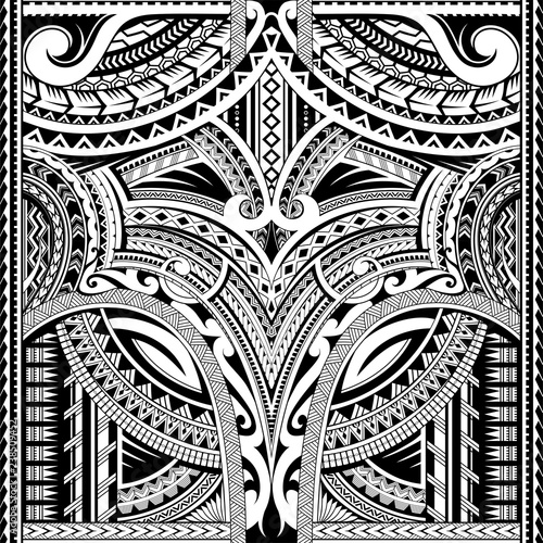 Polynesian ornament suitable for sleeve tattoo