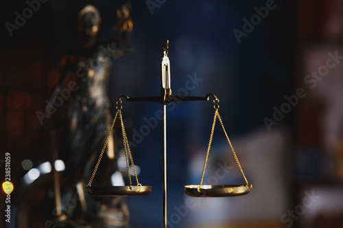 Canvas Print The Statue of Justice symbol, legal law concept image