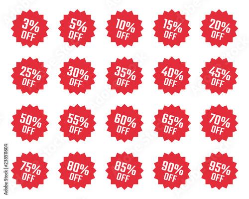 Cuadros en Lienzo discount labels set, sale tag, offer price