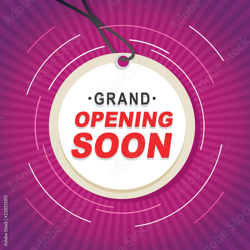 Fotografía  Opening Coming Soon Banner Poster Badge Design Element
