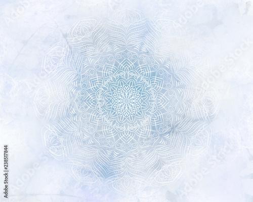 mrozny-mistyk-streszczenie-mandali-jasnoniebieskie-tlo