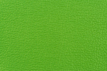 Green Leather Texture Closeup, Useful As Background. Abstract Background, Empty Template.
