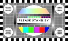 Retro Tv Test Screen. Old Cali...