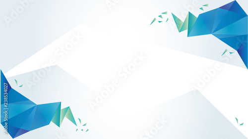 Poster Geometrische dieren Light blue and green vector low poly texture. Abstract illustration with elegant design. Template for layout, cover, presentation or web background.