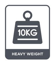 Heavy Weight Icon Vector