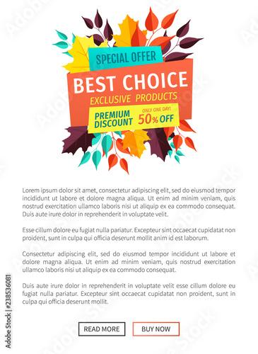 Fotografía  Best Choice Exclusive Offer Vector Illustration