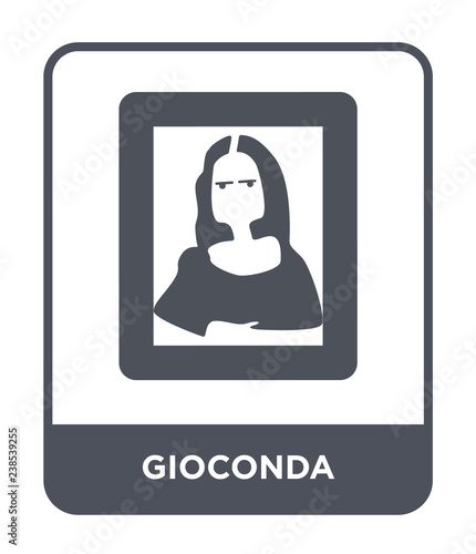 Tablou Canvas gioconda icon vector