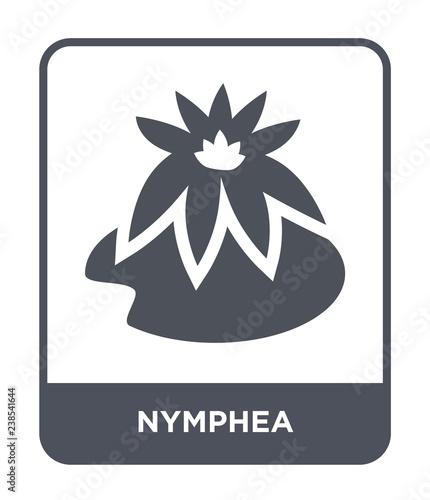 Obraz na plátně nymphea icon vector