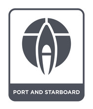 Port And Starboard Icon Vector