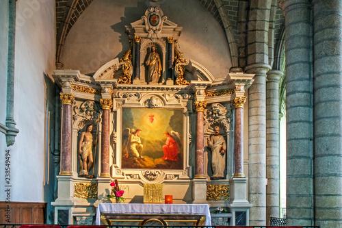 Foto op Aluminium Imagination Redon. Intérieur de l'abbatiale saint Sauveur. Ille-et-Vilaine. Bretagne