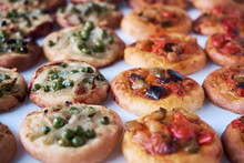 Freshly Baked Mini Pizzas Cocas