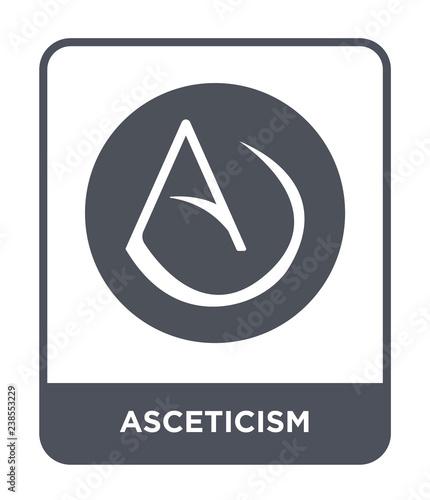 asceticism icon vector Canvas Print