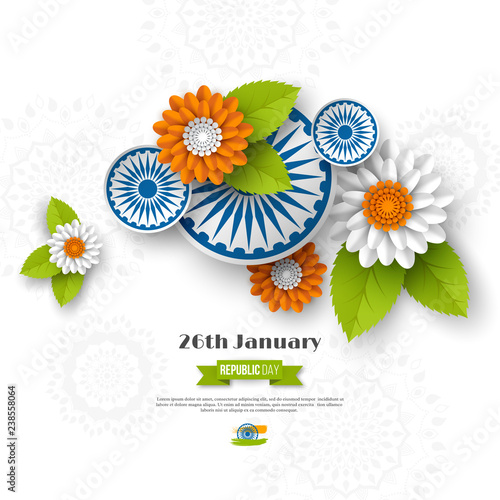 Fotomural Indian Republic day holiday design