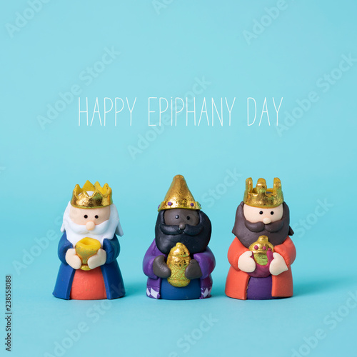 the magi and the text happy epiphany day Canvas