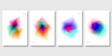 Set Of Colorful Abstract Objects. Modern Graphic Elements. Applicable For Banners, Posters, Web Backgrounds And Cover Prints. EPS 10 Vector.