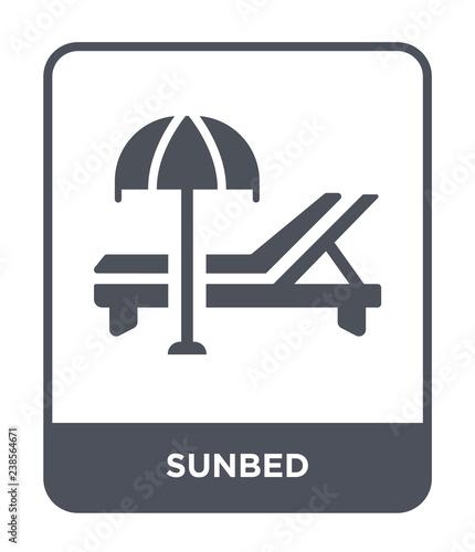 Fotografie, Tablou sunbed icon vector